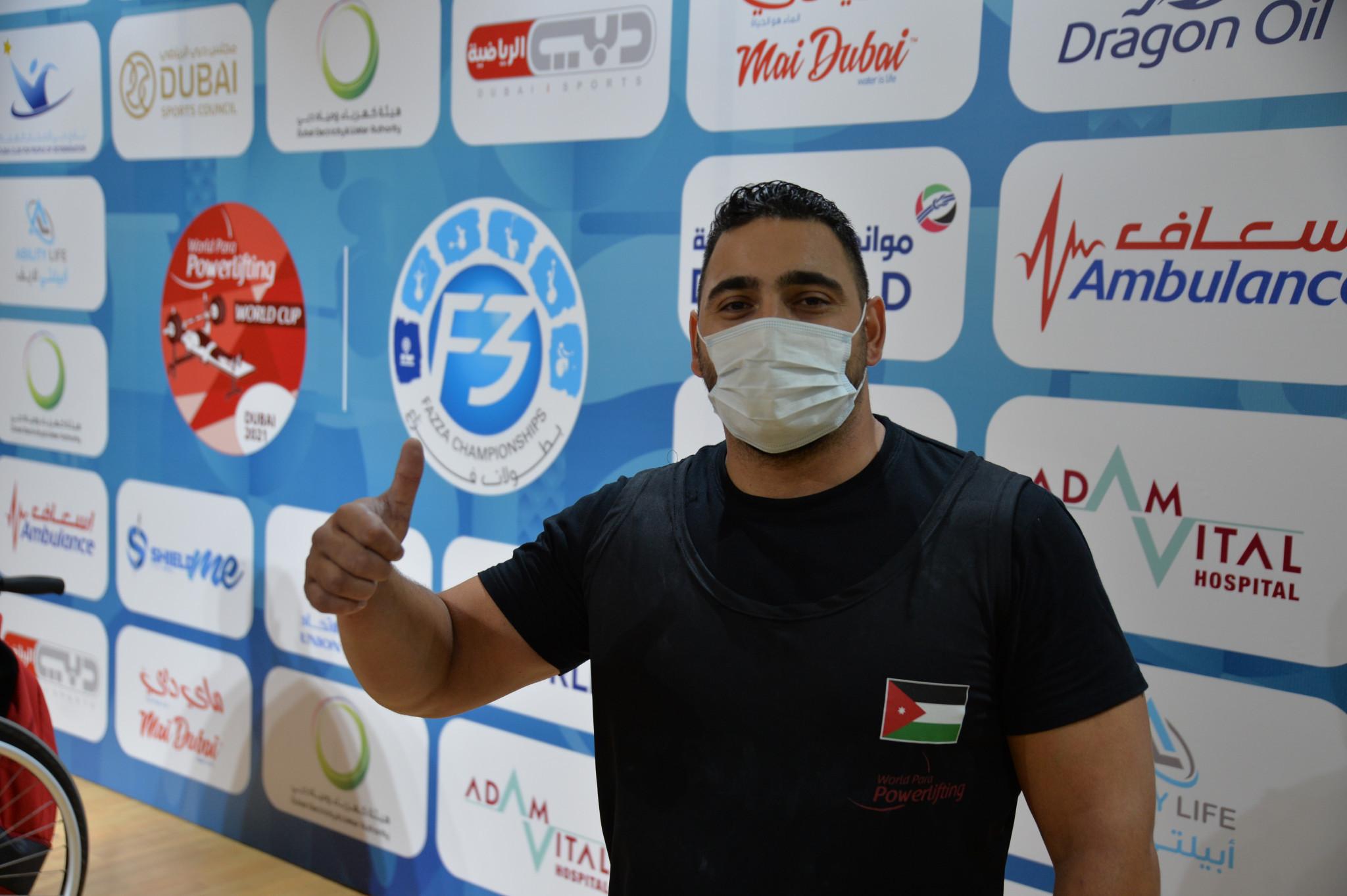 Jordan's Abdelkareem Khattab broke the world record twice en route to earning the men's under 88-kilogram gold medal at the Dubai 2021 Para Powerlifting World Cup ©Dubai 2021
