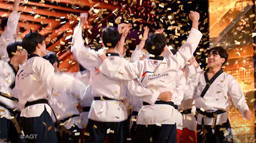 The World Taekwondo demonstration team went straight though to the live stages of America's Got Talent after earning the golden buzzer during auditions ©America's Got Talent