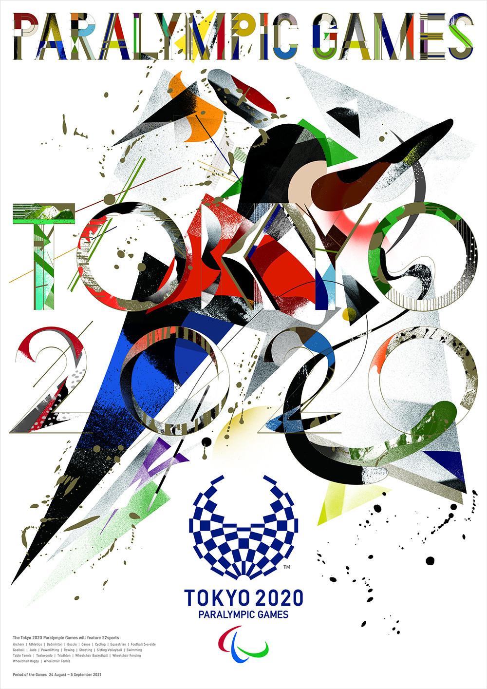 A poster titled Paralympian, by design group Goo Choki Par, has been selected as the iconic poster for the Tokyo 2020 Paralympics ©Tokyo 2020