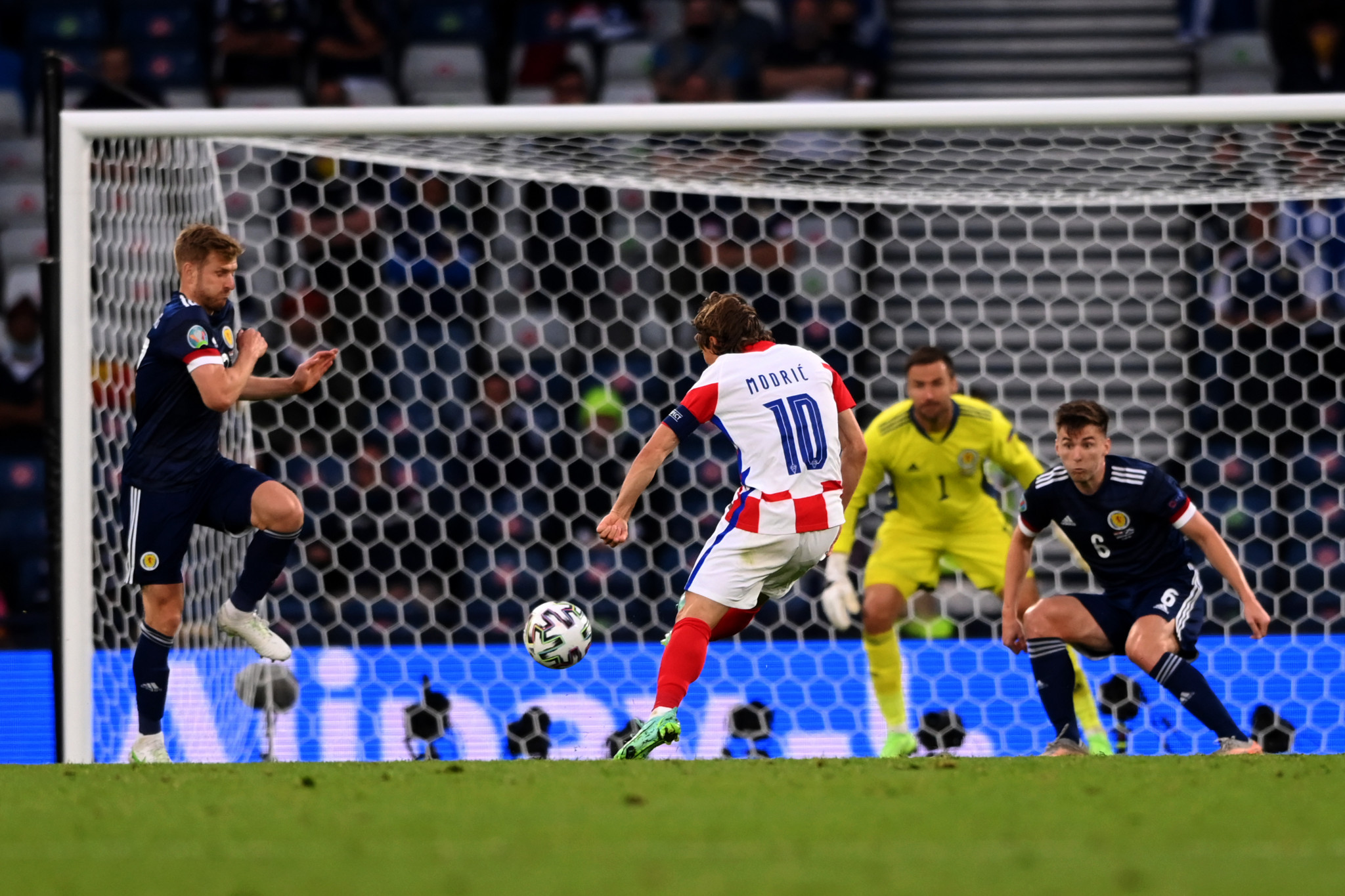 Croatia reach UEFA Euro 2020 last 16 after beating Scotland in crunch game