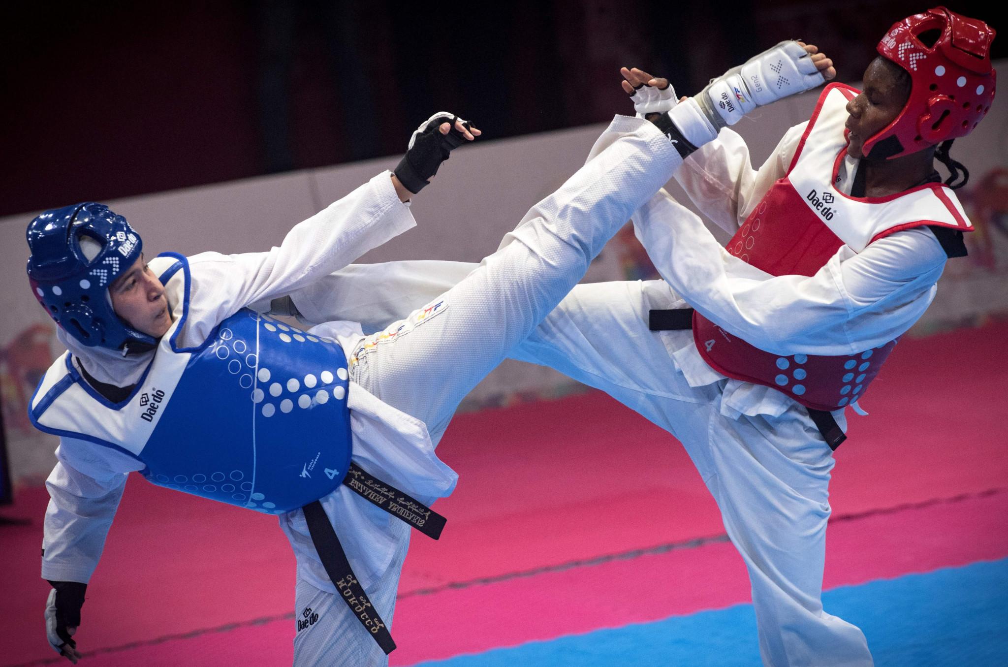 Faith Wanjiku Ogallo, right, will be the third taekwondo Olympian from Kenya ©Getty Images