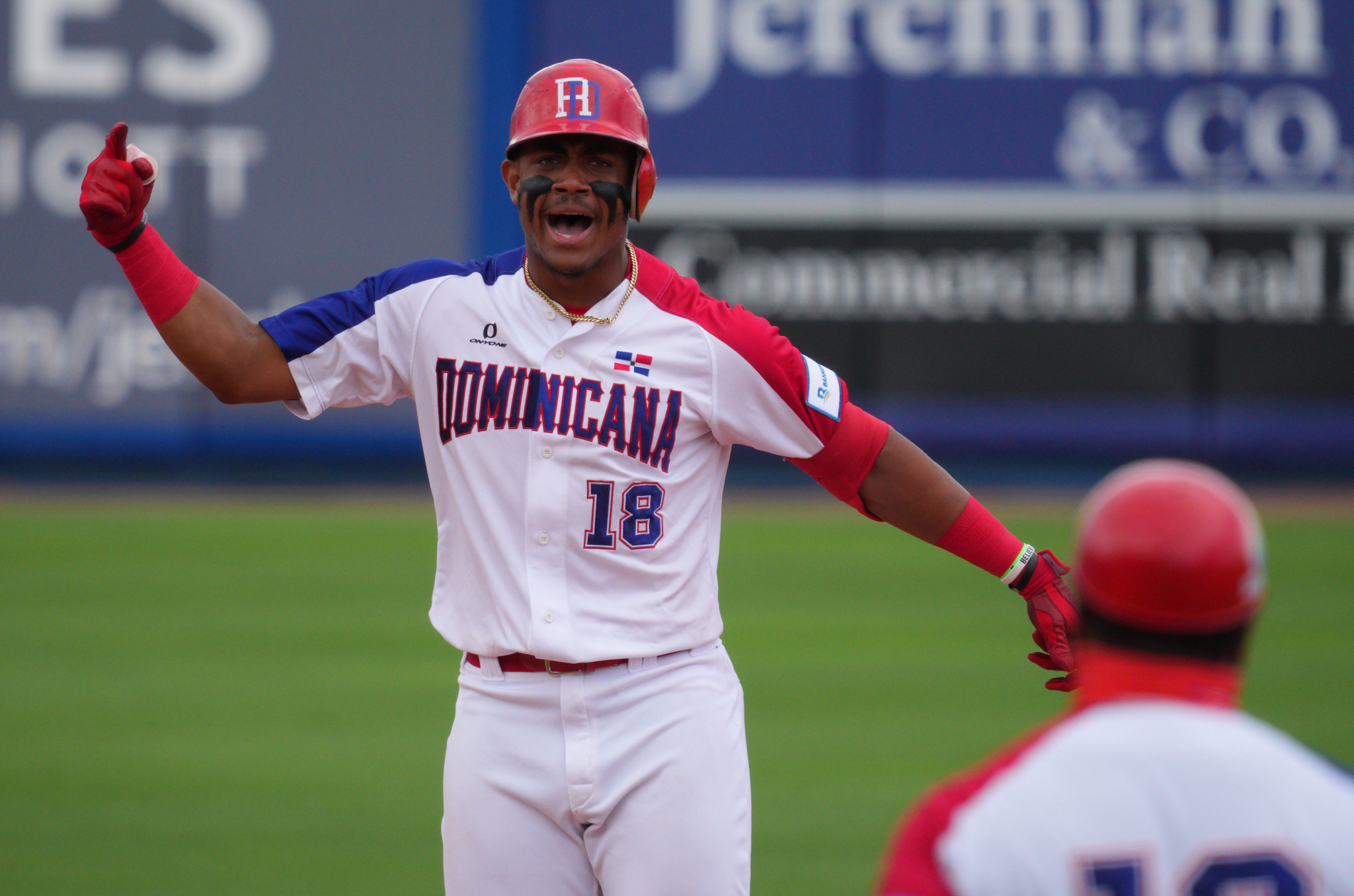 Julio Rodriguez was one of the scorers for the Dominican Republic ©Getty Images
