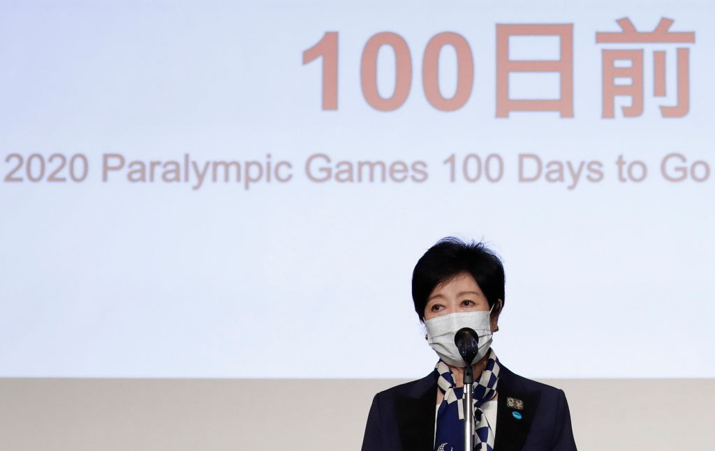 Tokyo Governor Yuriko Koike is taking a break from official duties this week and resting due to fatigue, it has been confirmed ©Getty Images