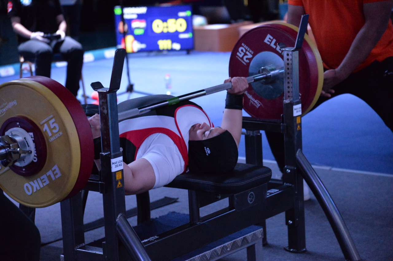 Egypt's Fatima Korany won silver in the women's under-61 kilograms event behind Mexico's Amala Perez on the final day of the Para Powerlifting World Cup in Dubai ©Dubai 2021