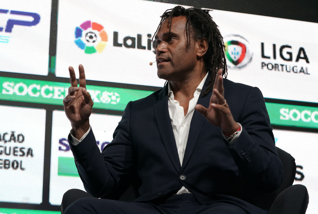 France's 1998 World Cup winner Christian Karembeu joined fellow FITEQ ambassador William Gallas in visiting the sport's co-founders to watch Hungary's Euro 2020 game against France in Budapest ©Getty Images