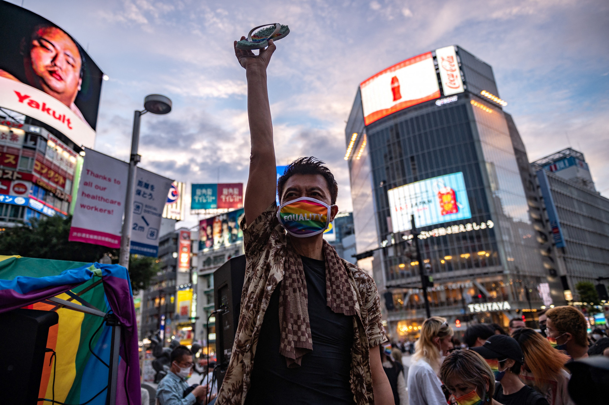 Japan's LGBTQ rights record has been criticised by community campaigners ©Getty Images
