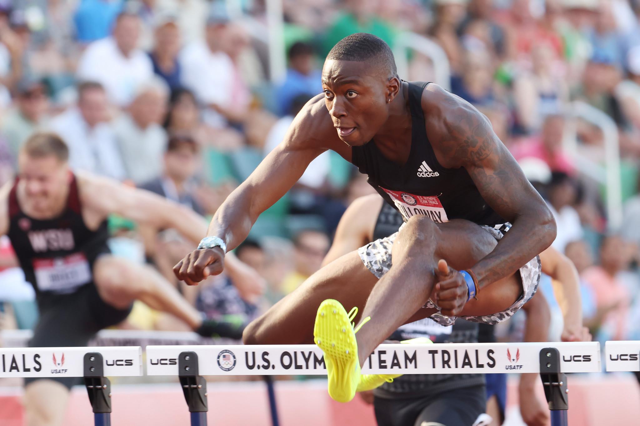 Holloway and Benjamin threaten hurdles world records at US Olympic Trials
