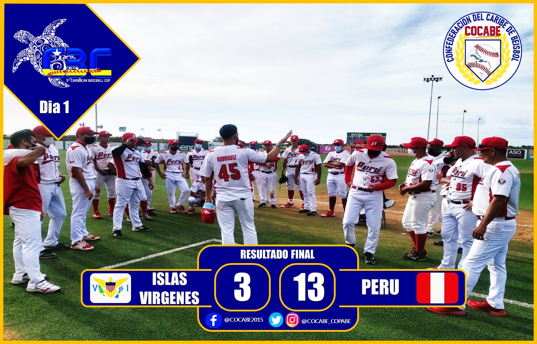 Peru claimed an opening round win over the US Virgin Islands at the Caribbean Baseball Cup in Curaçao ©COCABE
