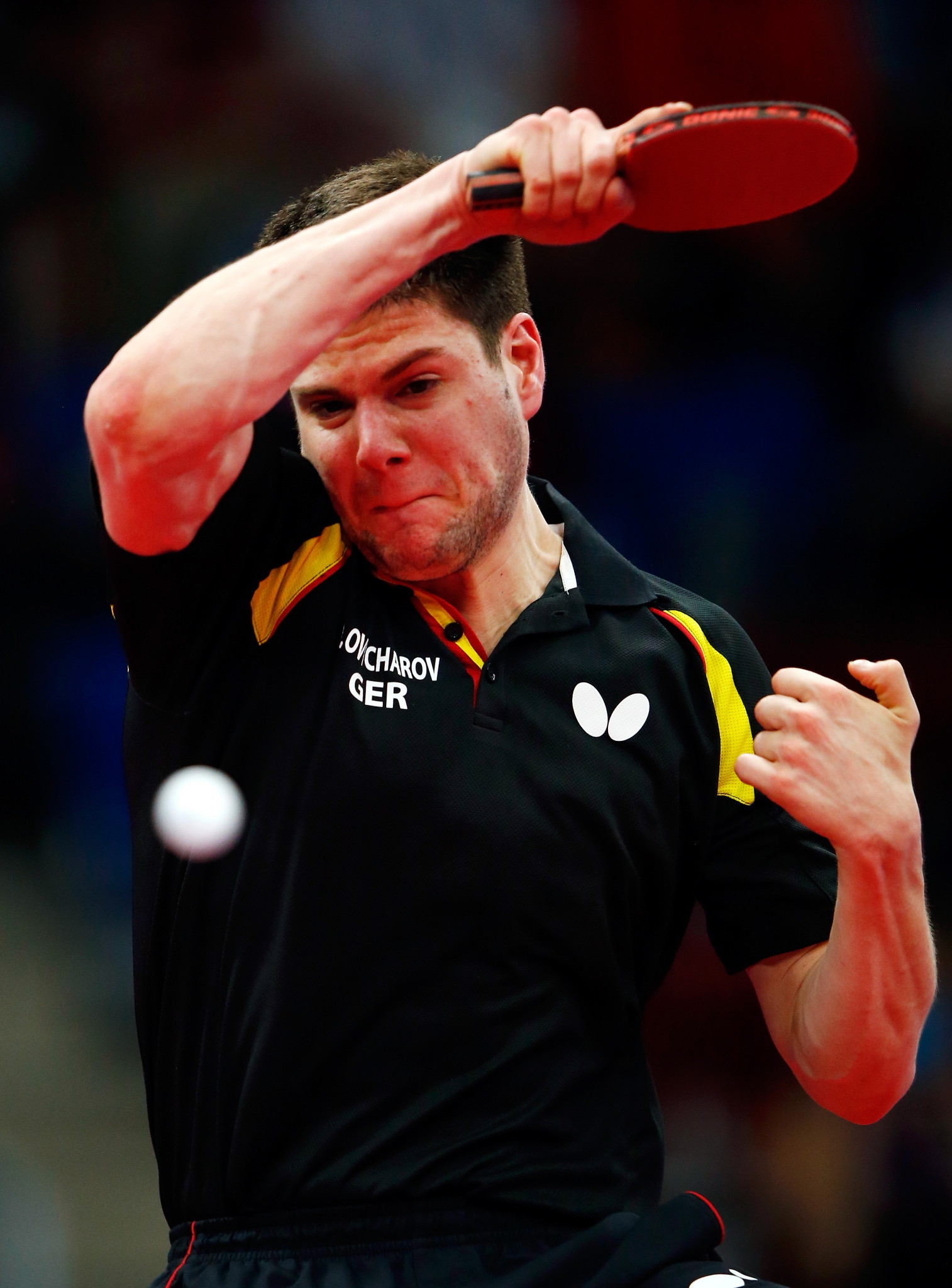 Germany's Dimitrij Ovtcharov won the men's singles at the 2015 European Games in Baku ©Getty Images