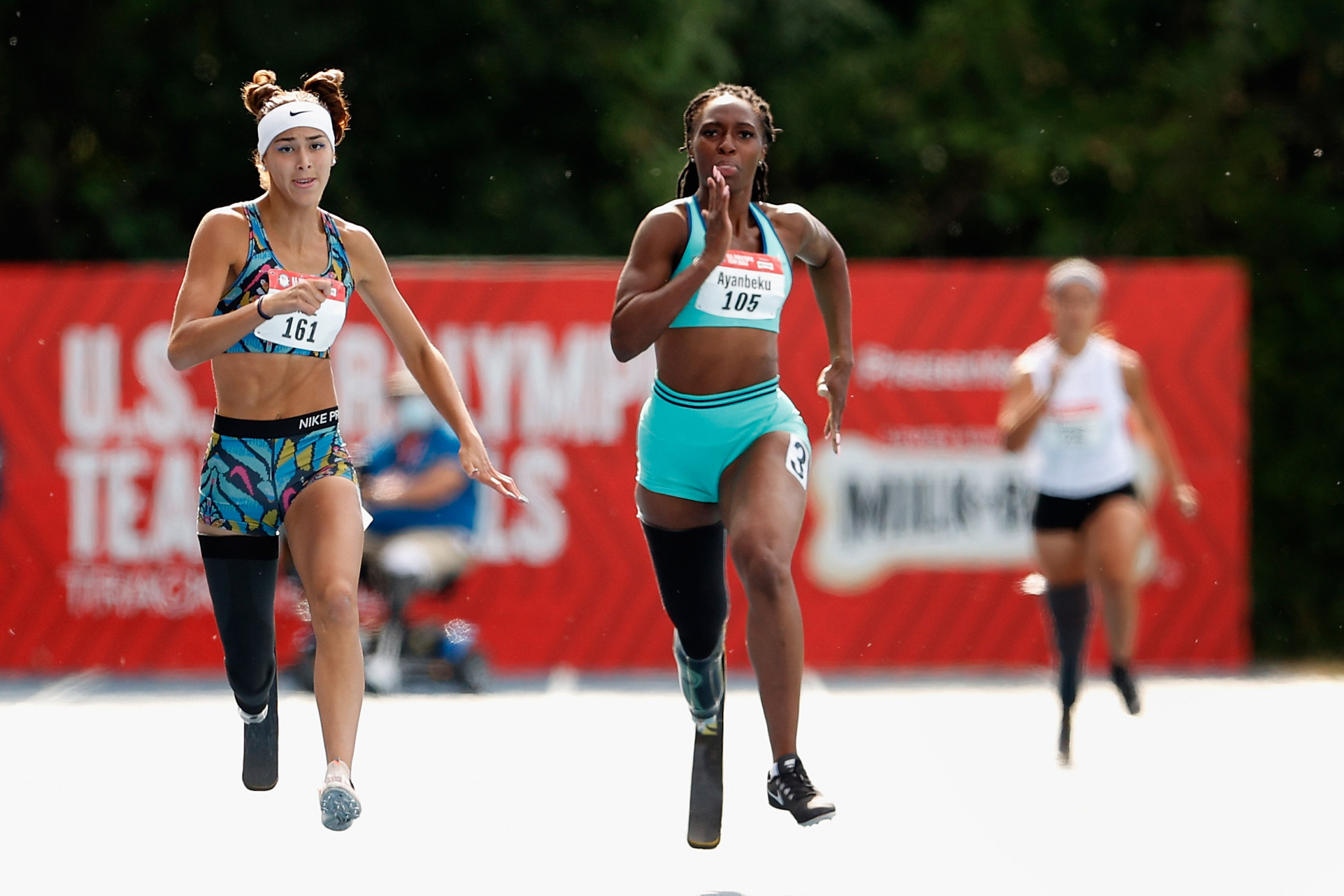 Femita Ayanbeku, centre, is part of the Show the World campaign organised by the USOPC in the build-up to the Paralympic Games in Tokyo ©Getty Images