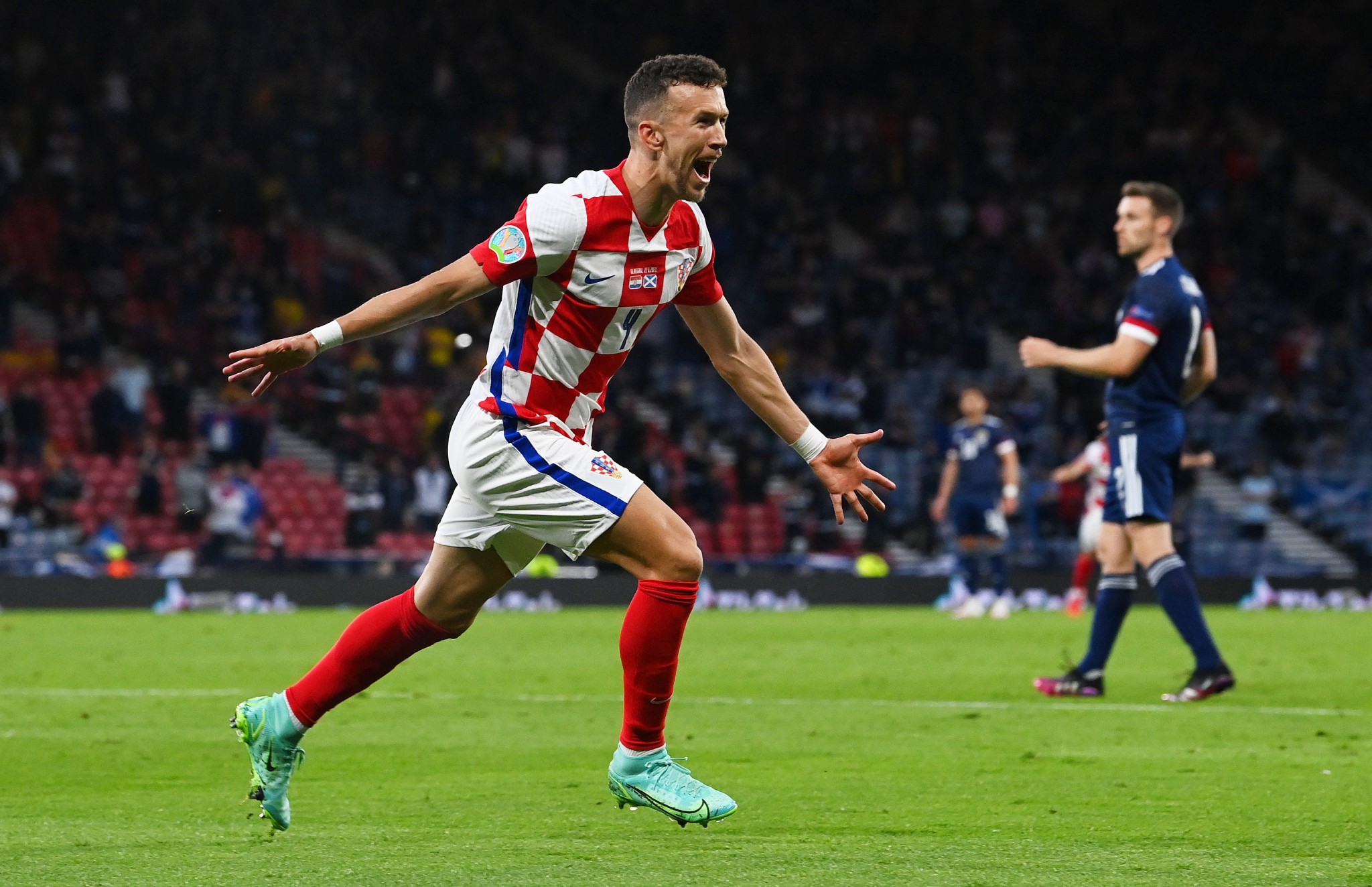 Croatia's Ivan Perisic has tested positive for COVID-19 and will miss their last-16 match against Spain ©Getty Images