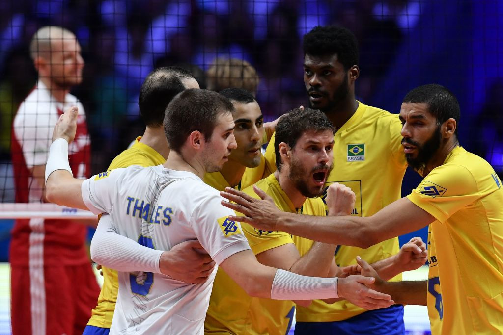 Brazil beat Poland to win the Volleyball Men's Nations League ©Getty Images