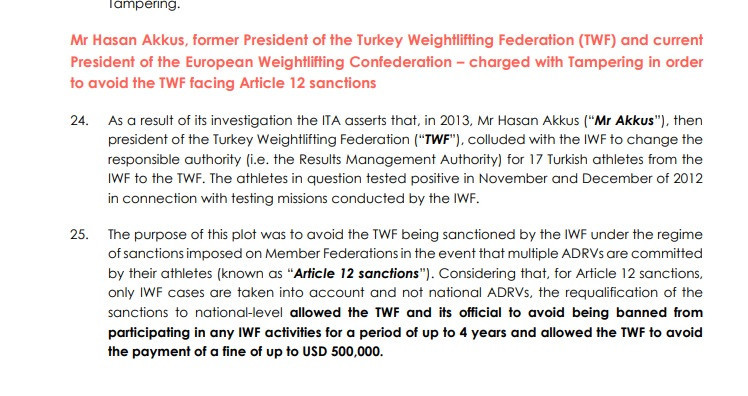 Hasan Akkus was one of three senior IWF officials charged by the ITA in a damning report ©ITA
