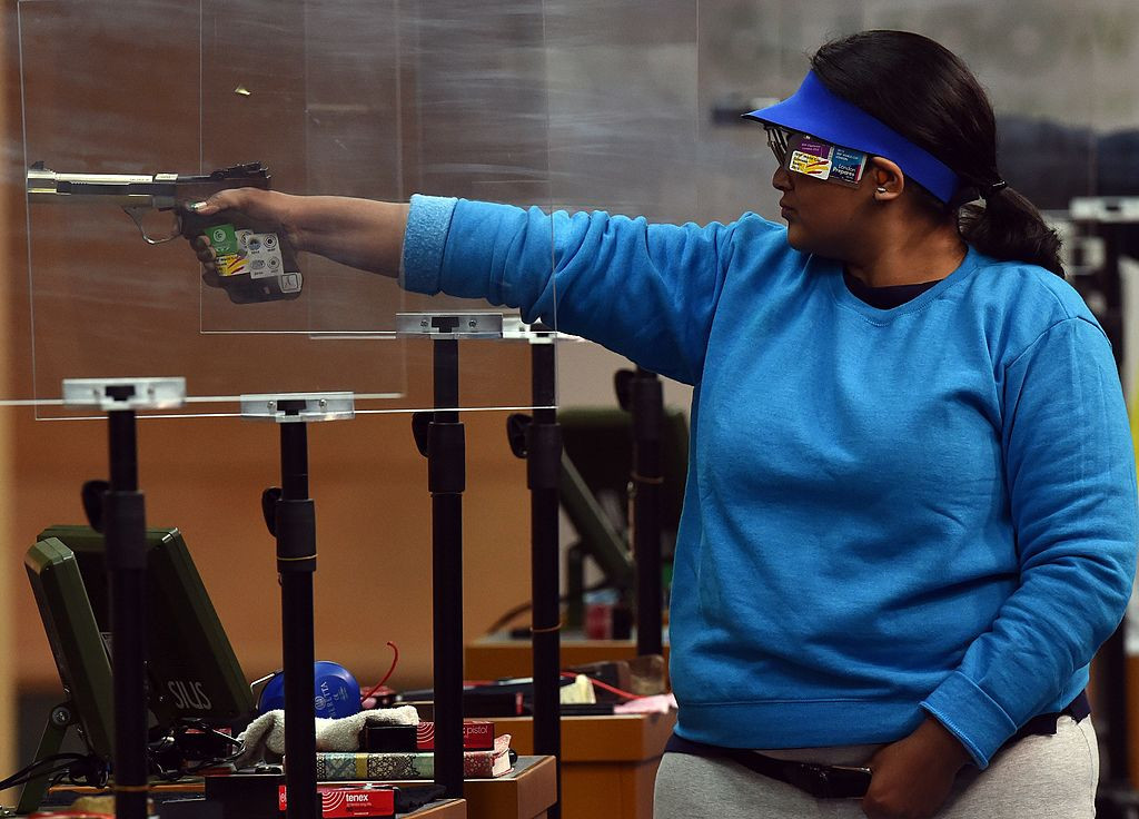 Double Commonwealth Games gold medallist Rahi Sarnobat of India claimed the women's 25m pistol title ©Getty Images