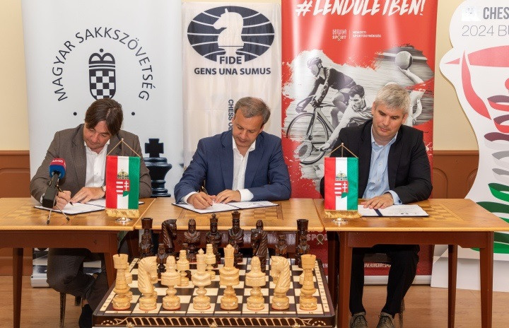 FIDE and local organisers sign hosting contract for Budapest 2024 Chess Olympiad