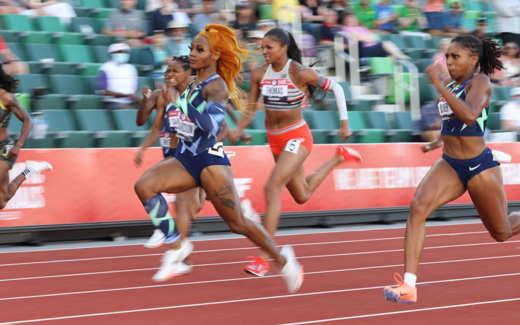 Sha'Carri Richardson's victory in the women's 100m at the US Olympic trials has been annulled following her acceptance of a one-month ban for taking cannabis ©Getty Images