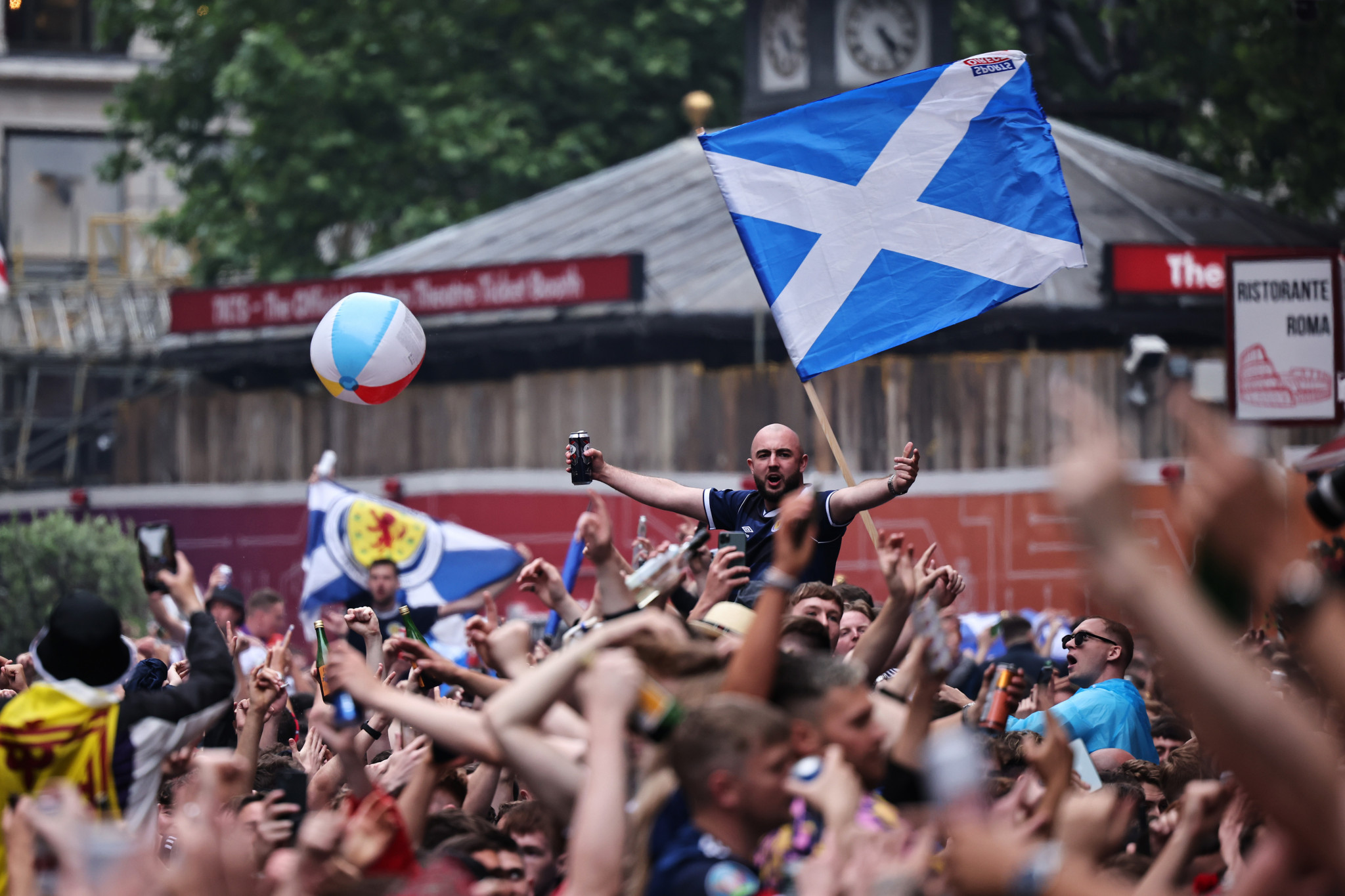 Nearly 2,000 COVID-19 cases were linked to Scottish fans who travelled to London for Euro 2020 ©Getty Images