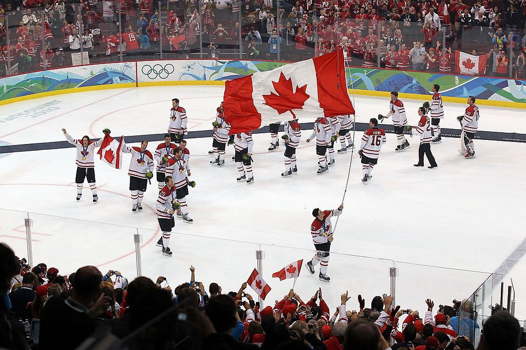 Canada's men celebrate home victory in the ice hockey at the Vancouver 2010 Winter Games - but the return of NHL players to the Olympics after their absence in 2018 now looks in doubt ©Getty Images