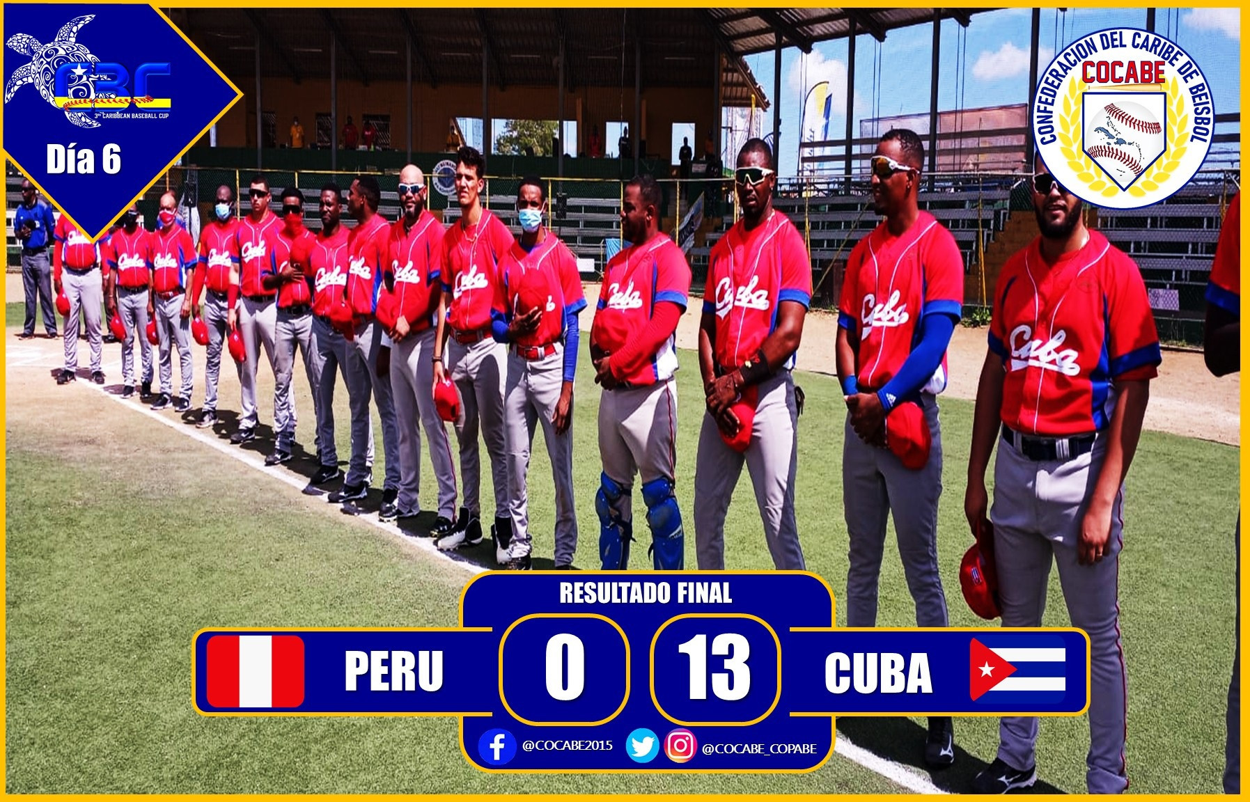 Cuba powered to victory over Peru at the Caribbean Baseball Cup ©COCABE