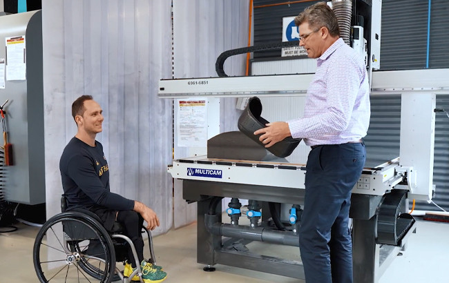The Australian Institute of Sport's engineering department has used Formula One technology to design new seating for wheelchair basketball players to use at the forthcoming Paralympics ©AIS