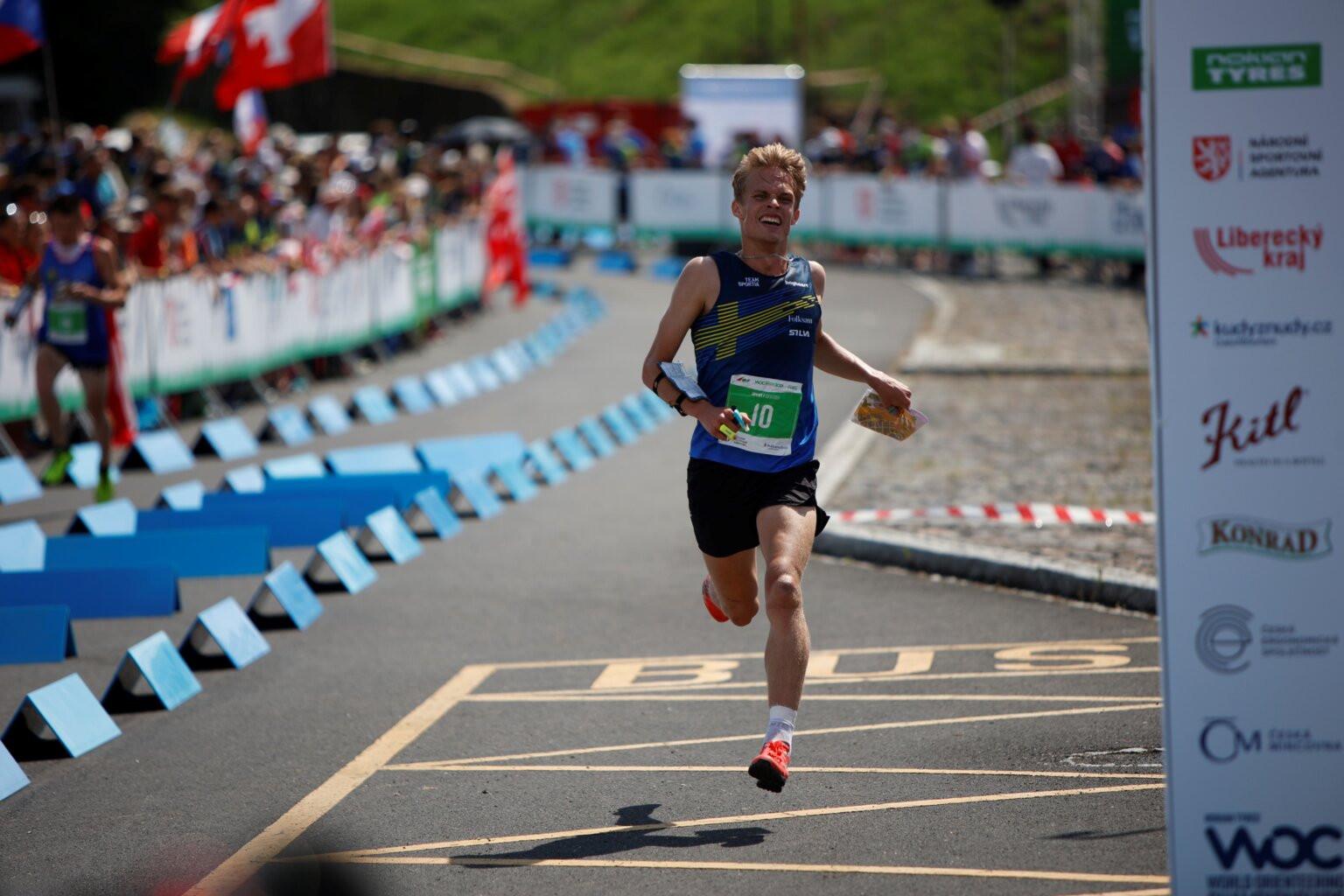 Sweden's Isac von Krusenstierna won the men's sprint in Doksy ©WOC 2021