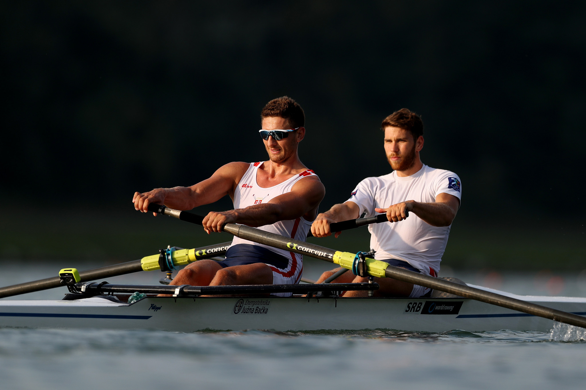 Miloš Vasić, left, has tested positive for COVID-19 on arrival in Japan ©Getty Images