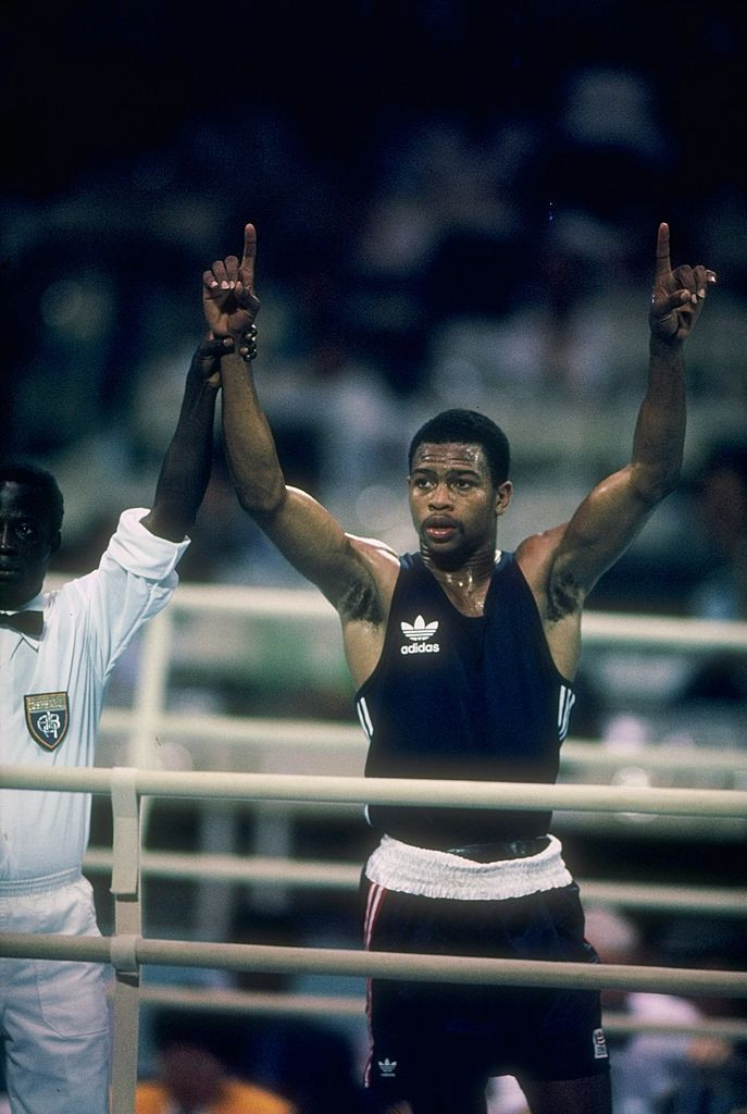 Roy Jones Jr pictured en route to the infamous final at the 1988 Seoul Olympic Games ©Getty Images