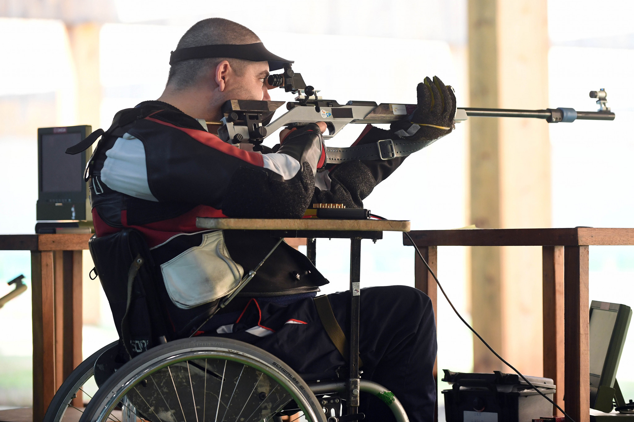 Home shooter Laslo Suranji ended the Grand Prix with two bronze medals ©Getty Images