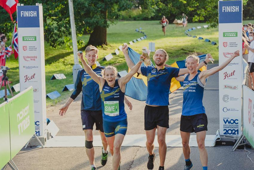 Super Sweden win sprint relay at World Orienteering Championships