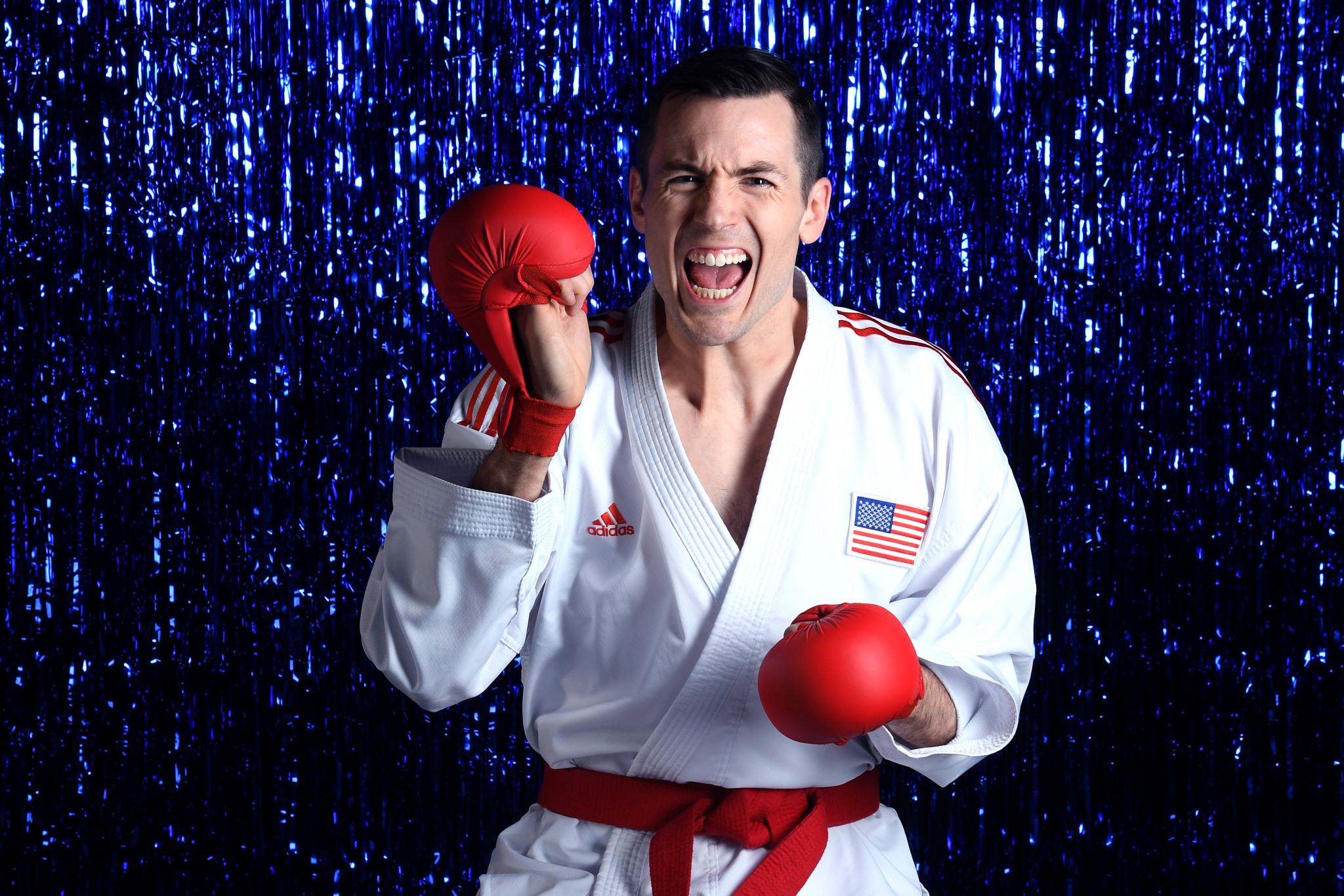 American Thomas Scott has now qualified for the Olympic karate competition ©Getty Images