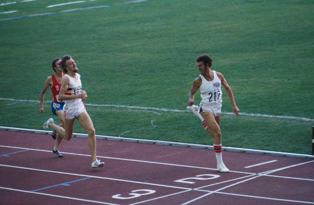 Alberto Juantorena wins the first part of his unique Olympic double at the 1976 Montreal Games, setting an 800 metres world record of 1min 43.50sec ©Getty Images