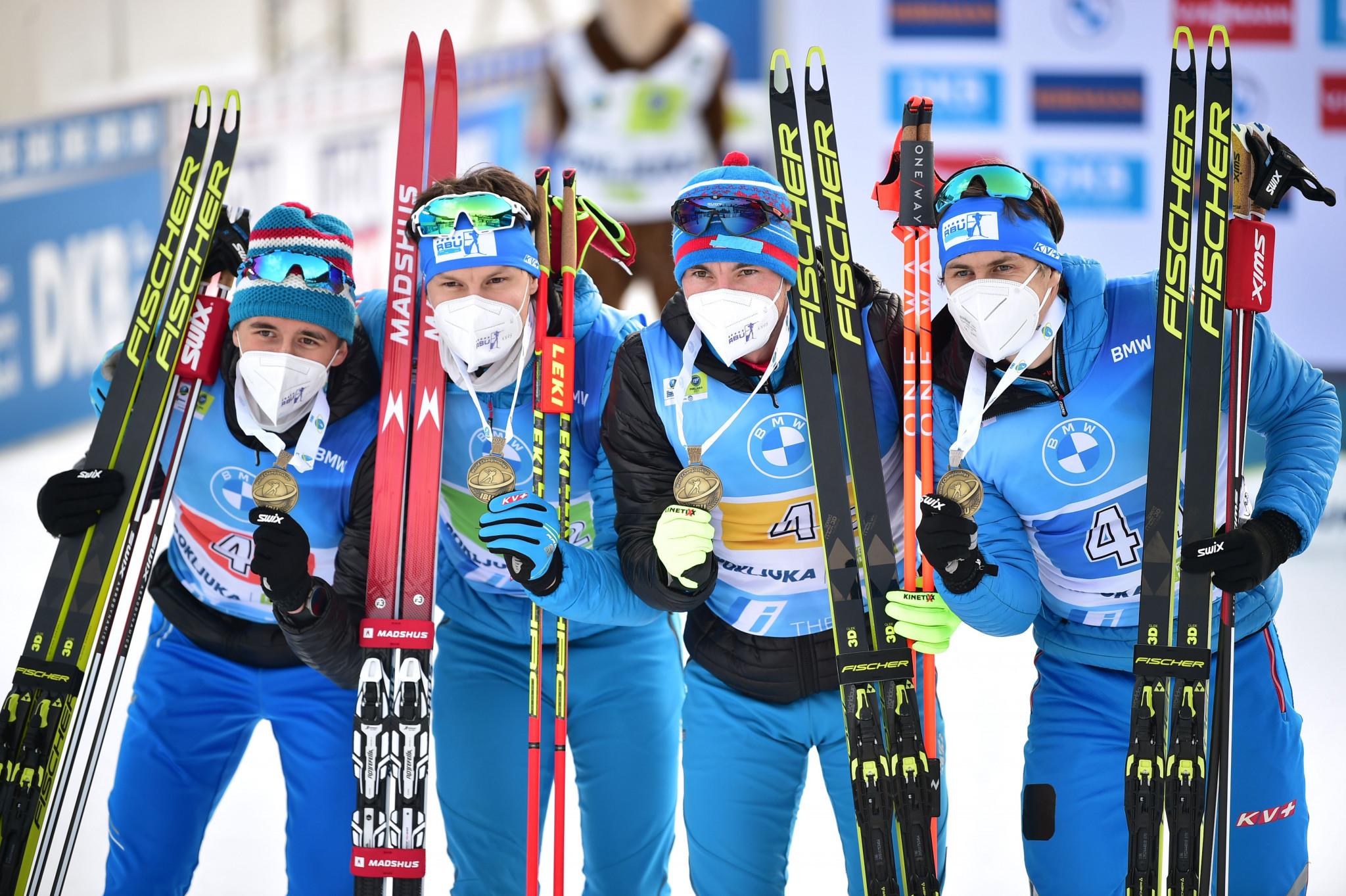 The RBU won one medal - men's relay bronze - at the 2021 Biathlon World Championships in Pokljuka in Slovenia ©Getty Images