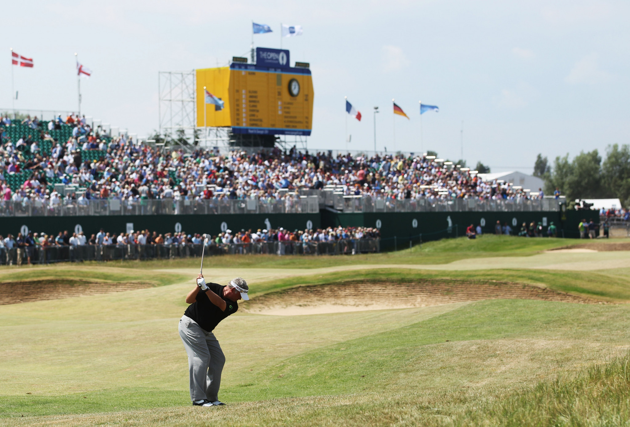 The last time Royal St George's hosted the British Open, in 2011, Darren Clarke from Northern Ireland was the winner ©Getty Images