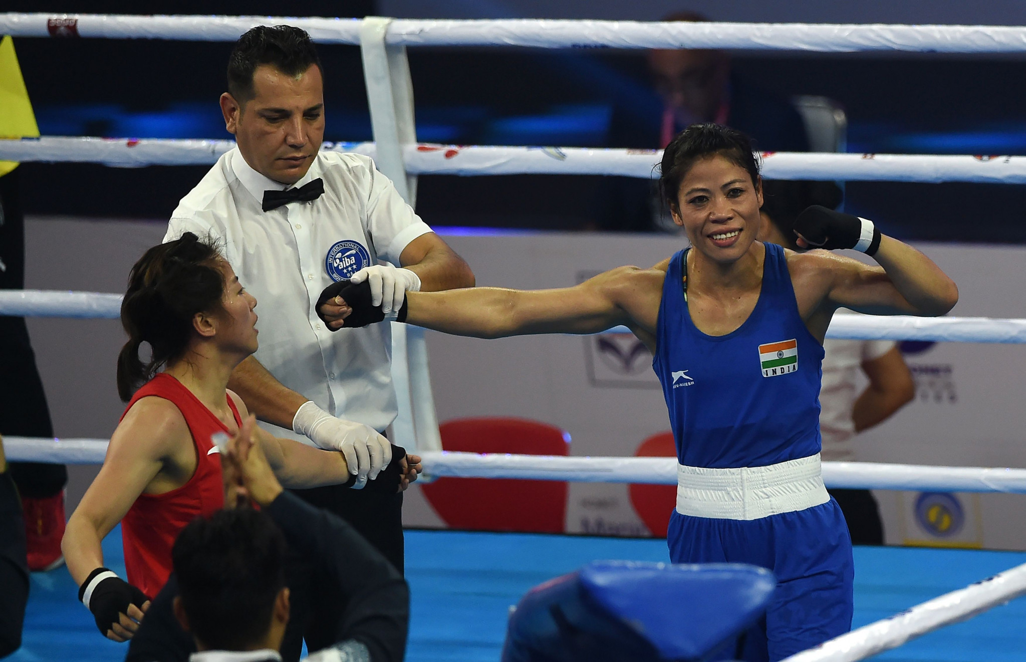 Mary Kom, a six-time world champion, has been chosen as one of three Indian flagbearers ©Getty Images