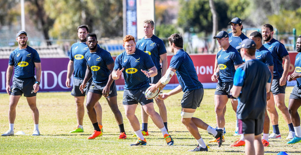 The Springboks, preparing in Johannesburg for the imminent home series against the British and Irish Lions, have had to cancel a training session after lock Lood de Jager became the latest squad member to test positive for COVID-19 ©Getty Images