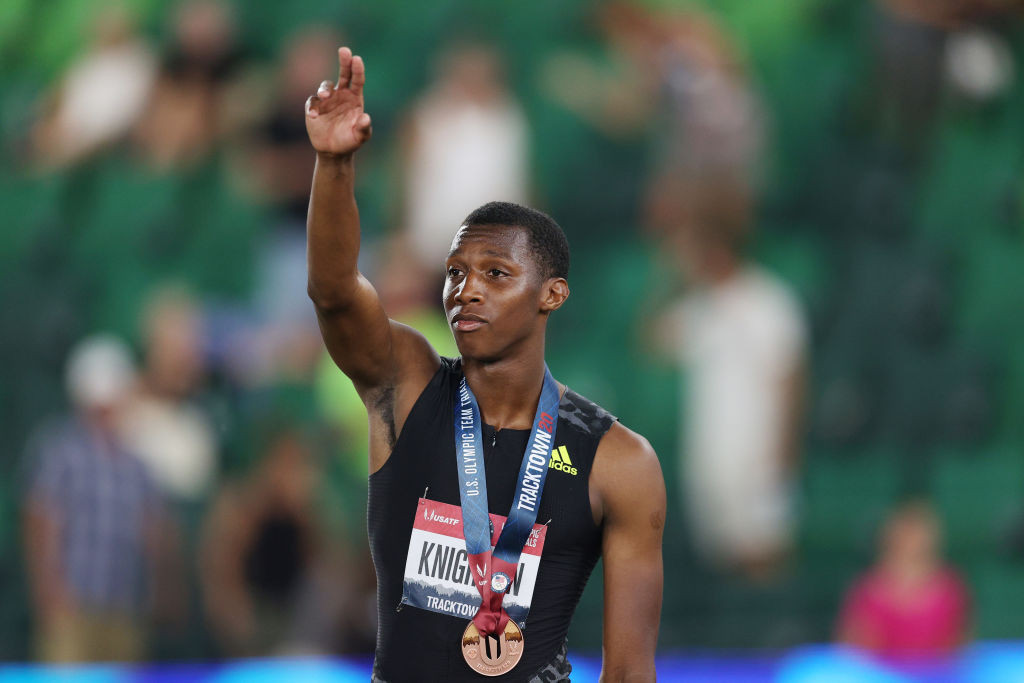 Seventeen-year-old 200 metres runner Erriyon Knighton is the youngest member of the United States athletics team named for the Tokyo 2020 Olympics ©Getty Images