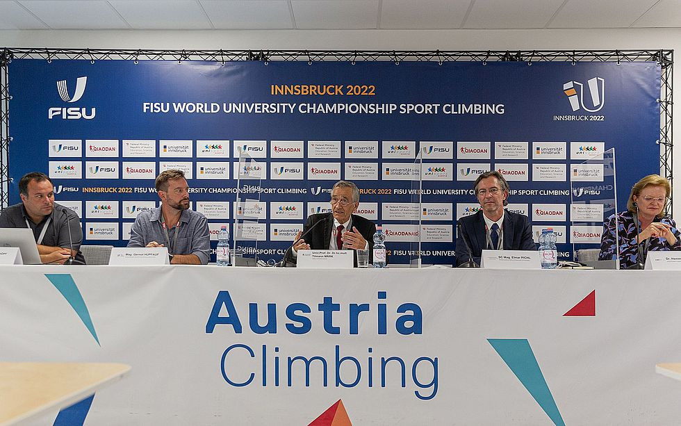 """Organisers of next year's FISU World University Championship Sport Climbing say they are """"well on track"""" with the planning ©FISU/KVÖ"""