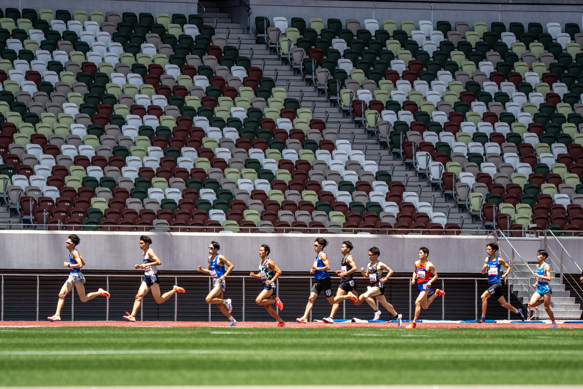 Empty stands are set to become a familiar backdrop at Tokyo 2020, with fans banned from all venues in the Japanese capital ©Getty Images