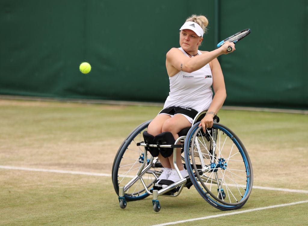 Britain's Whiley beats defending Wimbledon women's wheelchair tennis champion