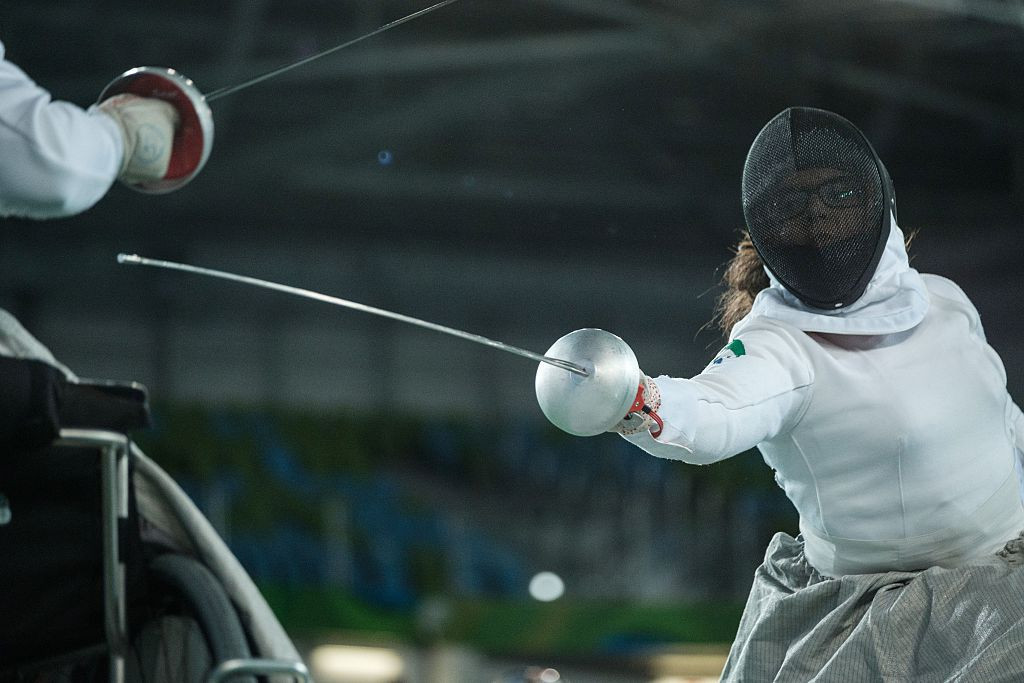 Russia and Ukraine shared the gold medals on a day of foil fencing at the IWAS World Cup in Warsaw ©Getty Images