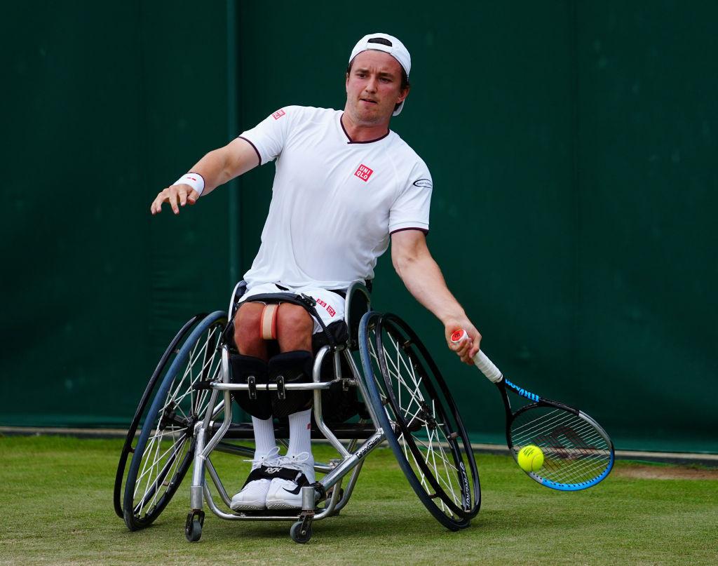 Britain's Reid beats defending champion Fernandez to reach Wimbledon men's wheelchair singles final