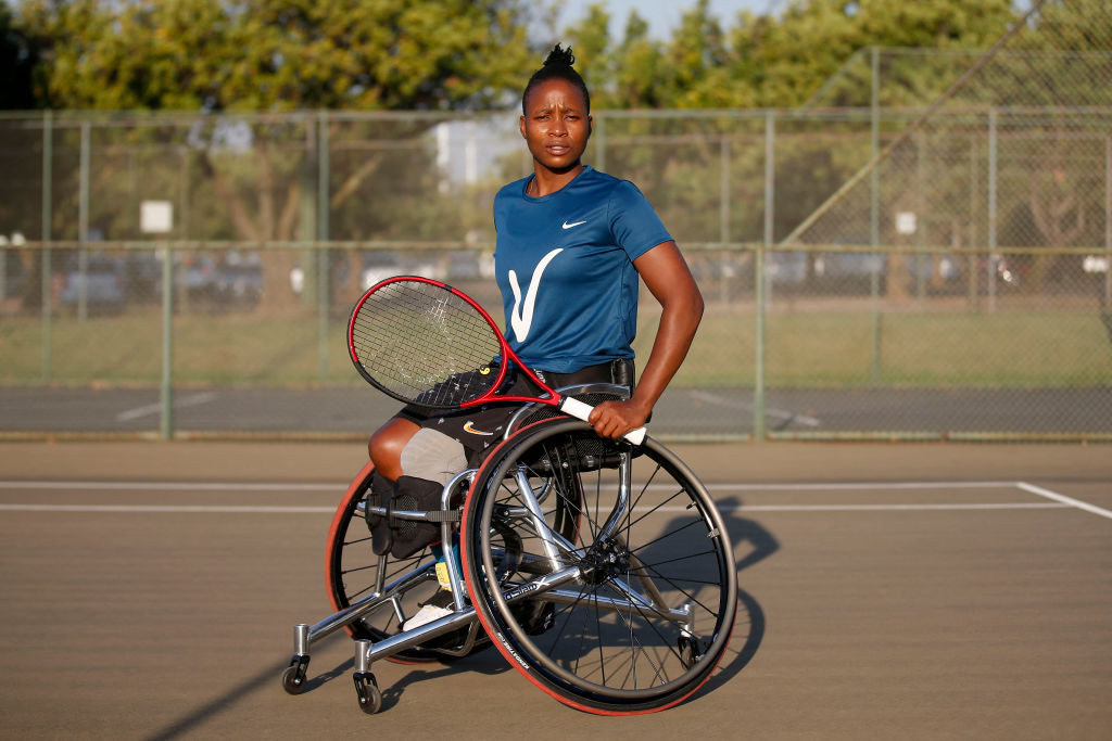 South Africa's Kgothatso Montjane is through to the women's singles and doubles wheelchair tennis finals at Wimbledon ©Getty Images