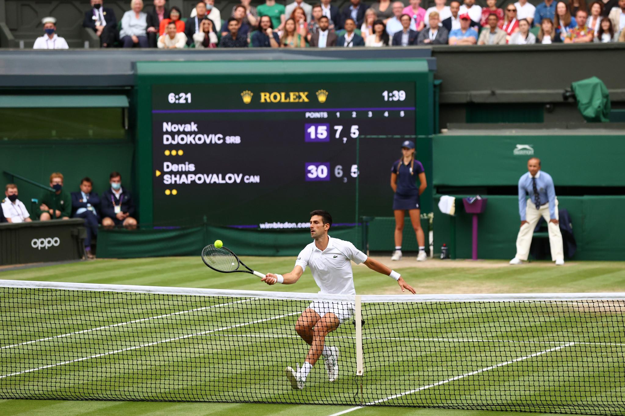 Top seed Djokovic battles through as Berrettini becomes first Italian man to reach Wimbledon men's singles final