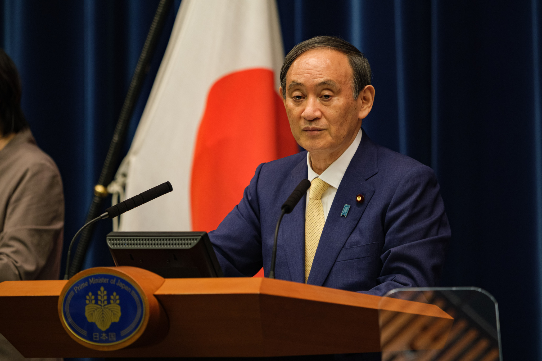 Japanese Prime Minister Yoshihide Suga has claimed that banning spectators from events at Tokyo 2020 will help ensure the Olympic Games take place safely ©Getty Images