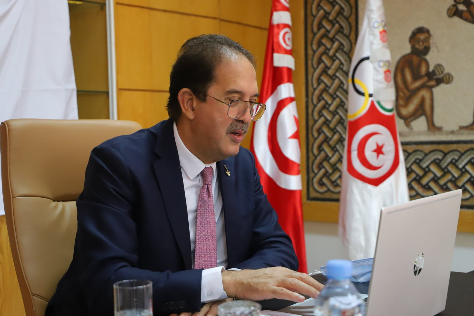 ANOCA President Berraf visits Tunisia to chair African athletes online forum
