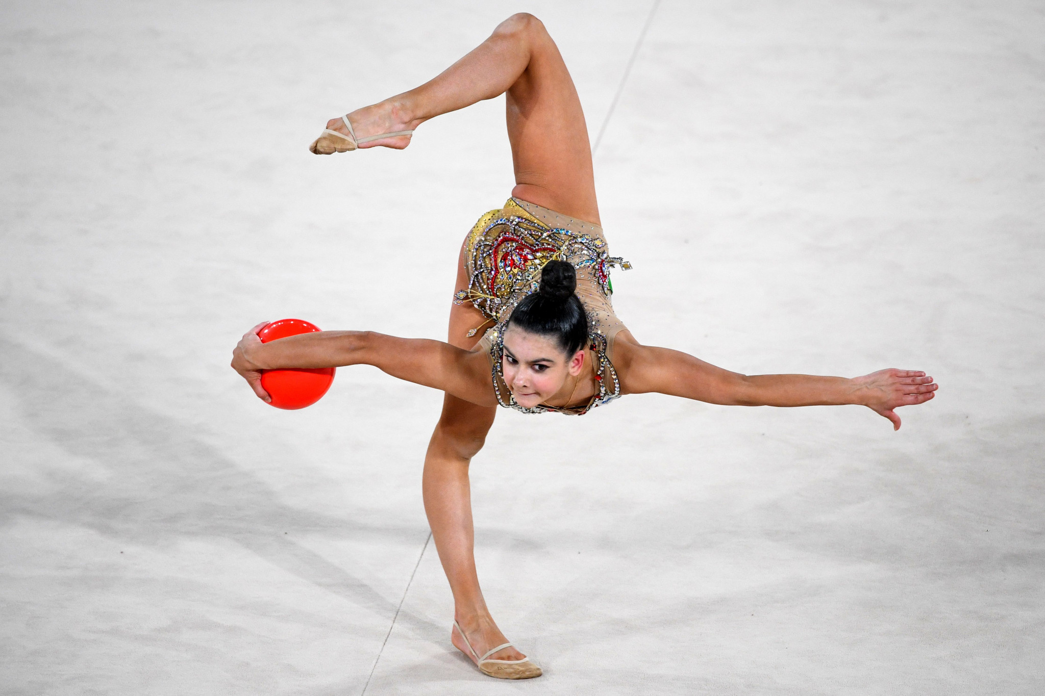 Lala Kramarenko won silver in the individual all-around ©Getty Images
