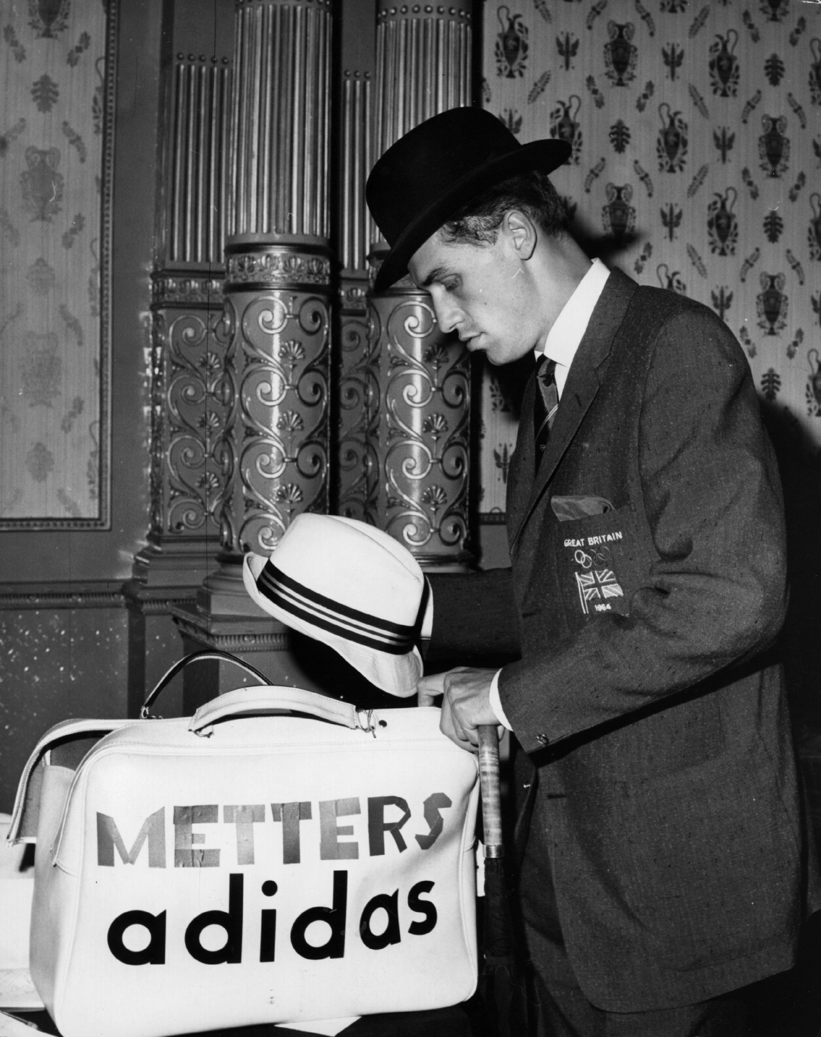 Adrian Metcalfe preparing to travel to Tokyo for the 1964 Olympic Games, where he won a silver medal as part of Britain's 4x400m relay team ©Getty Images
