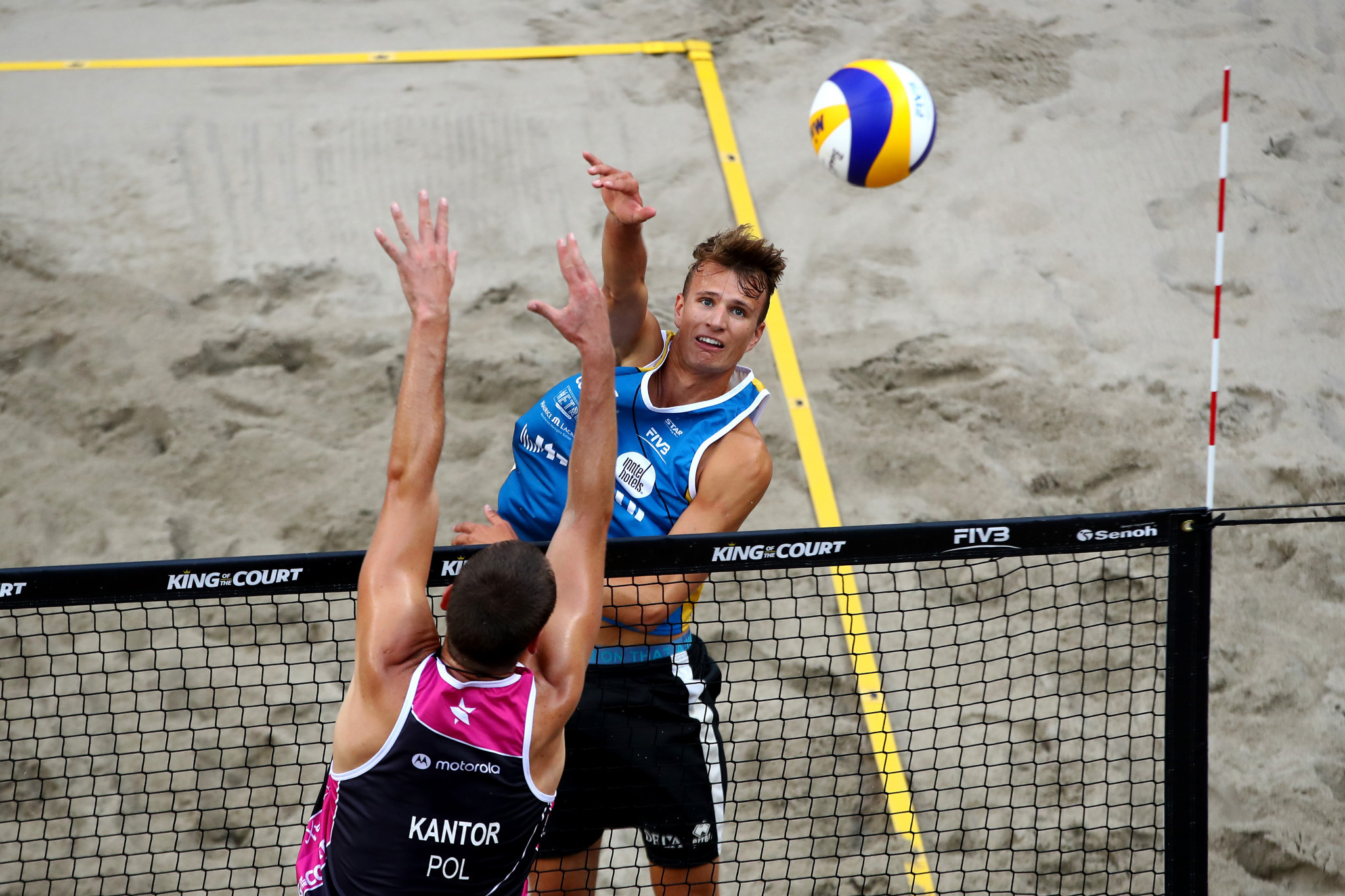 Yorick de Groot teamed up with Stefan Boesmans to win the Beach Volleyball World Tour event in Gstaad ©Getty Images