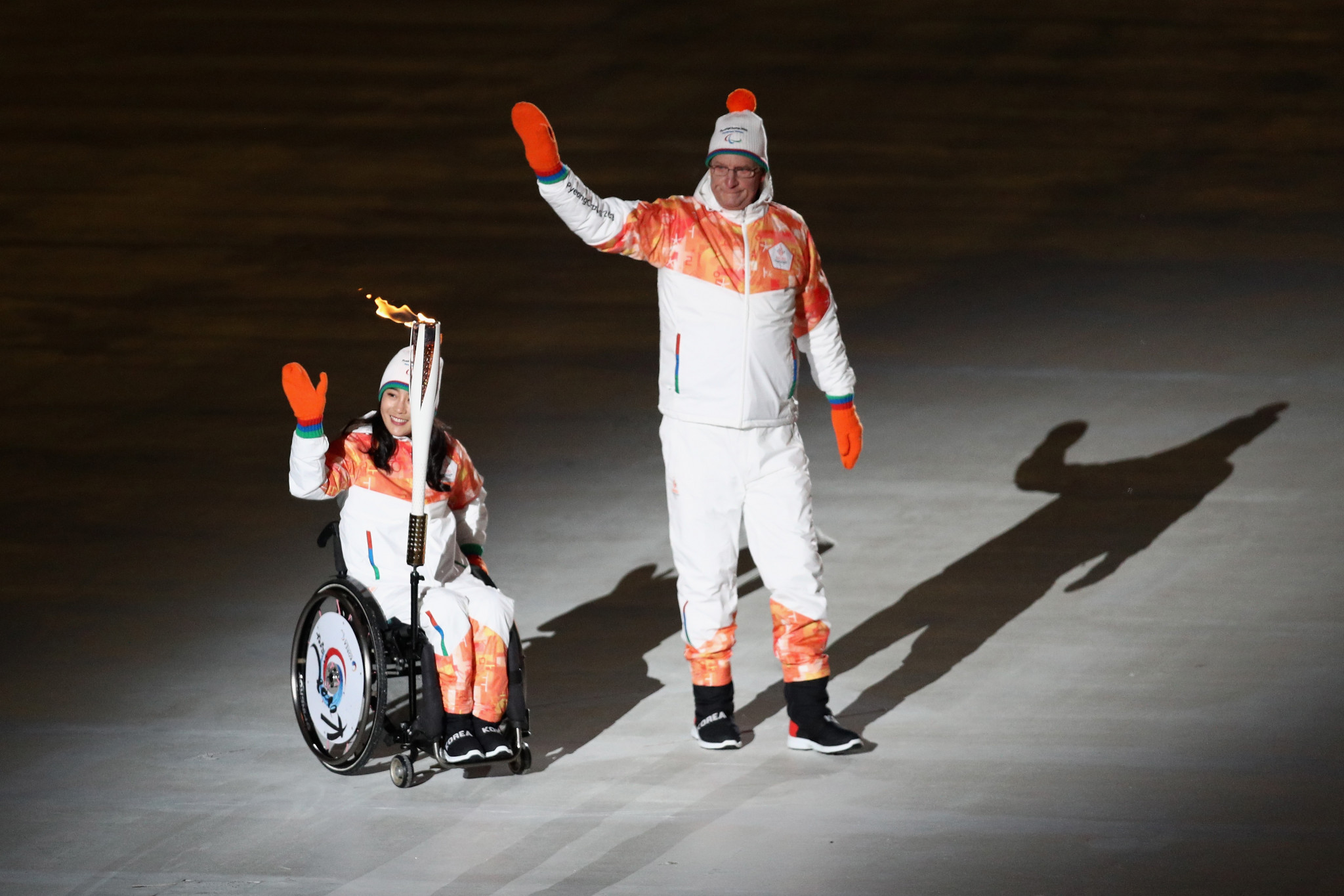 Vo Ra Mi Seo had been one of the Torch bearers at the Opening Ceremony of the 2018 Paralympic Games in Pyeongchang ©Getty Images