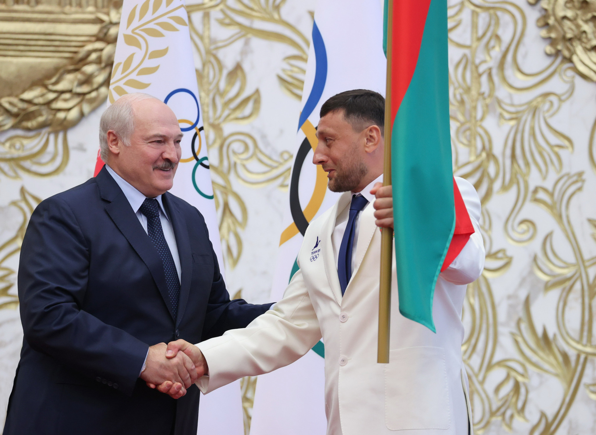 Drug cheat takes Olympic oath on behalf of Belarus athletes, who Lukashenko claims are victims of political pressure